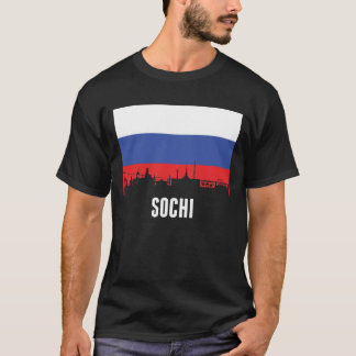 Russian Flag Sochi Skyline T-Shirt