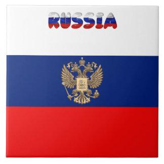Russian flag tile