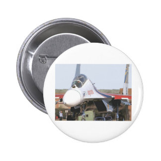 RUSSIAN FLANKER FIGHTER JET 2 INCH ROUND BUTTON
