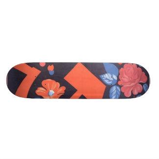 Russian Flower Rose Custom Skate Board