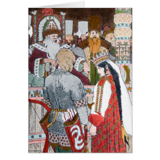 Russian Folklore Notecard Note Card