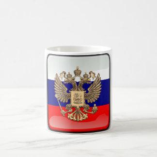 Russian glossy flag coffee mug