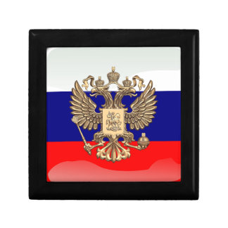Russian glossy flag keepsake box