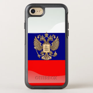 Russian glossy flag OtterBox symmetry iPhone 8/7 case