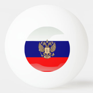 Russian glossy flag ping pong ball