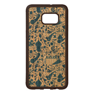 Russian Gzel Pattern Wood Samsung Galaxy S6 Edge Case