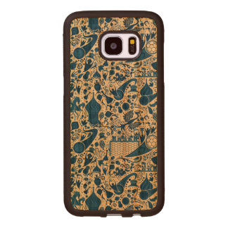Russian Gzel Pattern Wood Samsung Galaxy S7 Edge Case