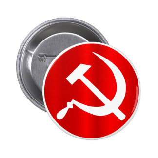 Russian Hammer and Sickle 2 Inch Round Button