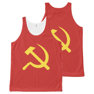Russian Hammer and Sickle All-Over Unisex Tank