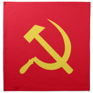 Russian Hammer and Sickle Cloth Napkins Dinner