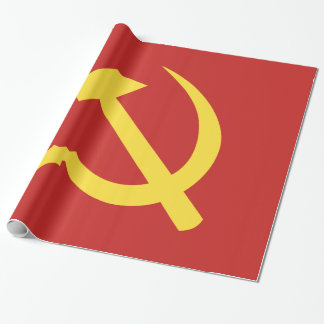 Russian Hammer and Sickle Glossy Wrapping Paper