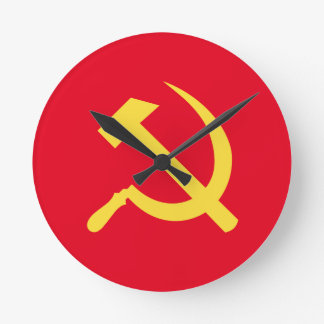 Russian Hammer and Sickle Round Wall Clock