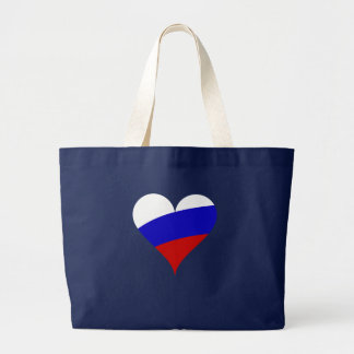 Russian heart large tote bag
