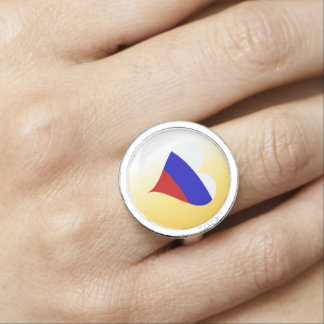 Russian heart photo ring