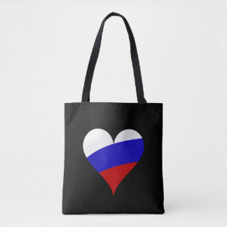 Russian heart tote bag