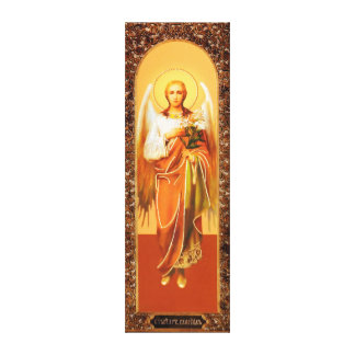 Russian icon Archangel Gabriel Wrapped Canvas