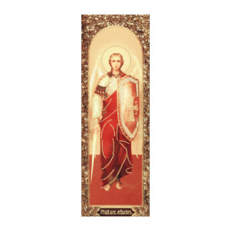 Russian icon Archangel Michael Wrapped Canvas