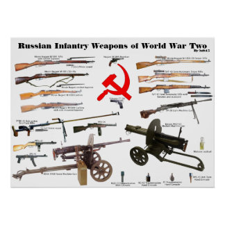 Russian Infantry Weapons of WW2 Poster