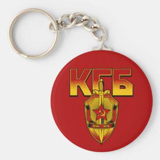 Russian KGB Badge Soviet Era Basic Round Button Keychain