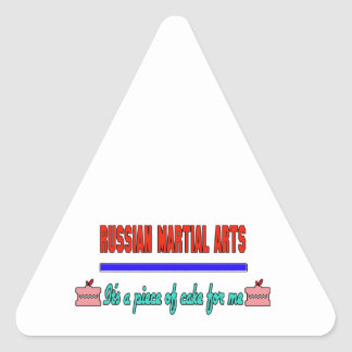 Russian Martial Arts It's a piece of cake for me Triangle Sticker