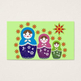 Russian Matryoshka Doll Business Cards
