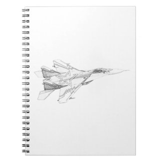 Russian MiG jet fighter aircraft Spiral Notebook