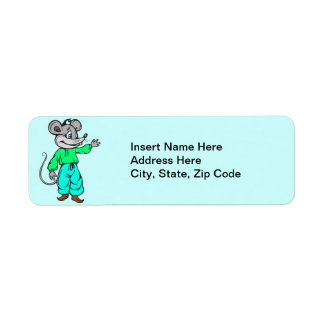 Russian Mouse Return Address Label