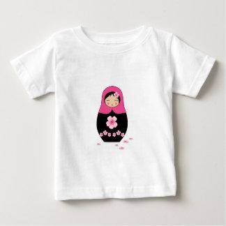 Russian nesting Doll Pink Matryoshka Babushka Baby T-Shirt