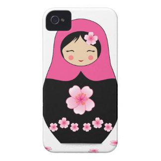 Russian nesting Doll Pink Matryoshka Babushka Case-Mate iPhone 4 Case