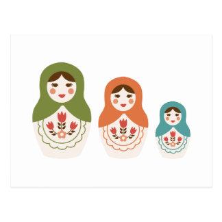 Russian Nesting Dolls Postcard