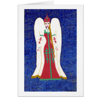 Russian Orthodox Angel Card
