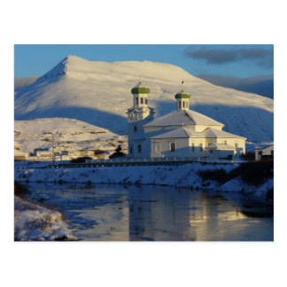 Russian Orthodox Church south side, Unalaska Islan Postcard