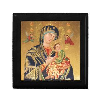 Russian Orthodox Icon - Virgin Mary and baby Jesus Trinket Box