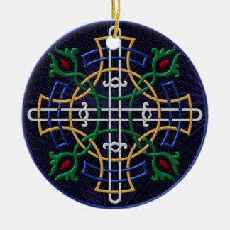 Russian Orthodox Symbol - Personalized Round Ceramic Ornament