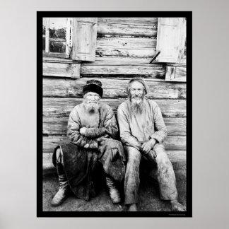 Russian Peasants Log Cabin 1895 Poster
