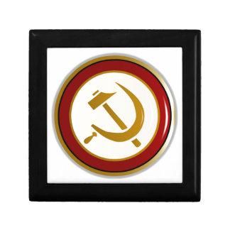 Russian Pin Badge Trinket Box