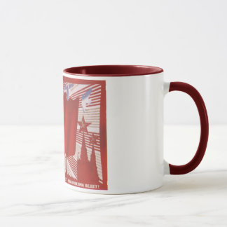 Russian Propaganda USSR USA Nuke Mug