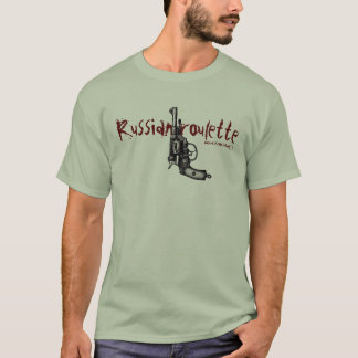 Russian roulette nagant revolver funny t-shirt