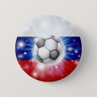 Russian soccer flag 2 inch round button