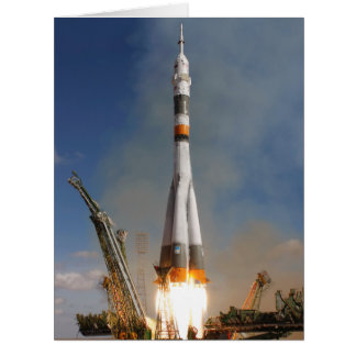 Russian Soyuz Liftoff - October 12, 2008 Card
