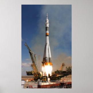 Russian Soyuz Liftoff - October 12, 2008 Poster