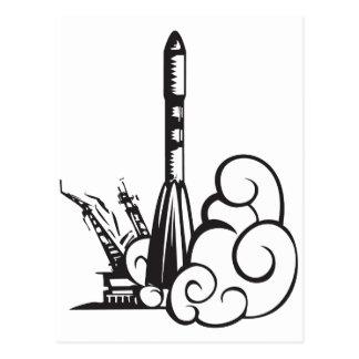 Russian Soyuz rocket Postcard