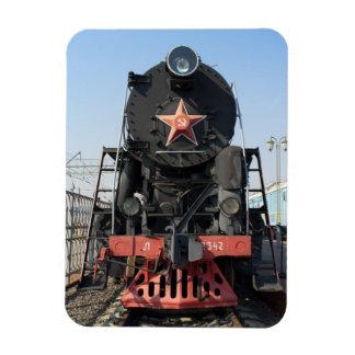Russian steam locomotive L-2342. Built in 1954 Magnet