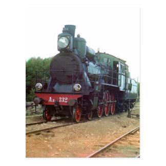 Russian Steam Locomotive Postcard