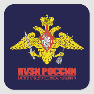 Russian Strategic Missile Troops Square Sticker