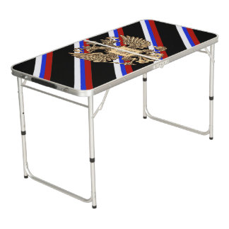 Russian stripes flag beer pong table