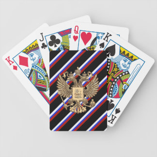 Russian stripes flag bicycle playing cards