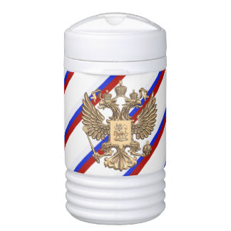 Russian stripes flag drinks cooler