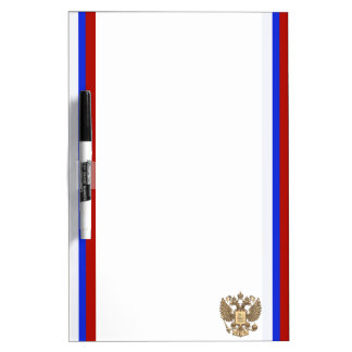 Russian stripes flag dry erase board