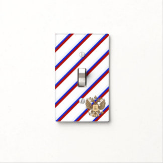 Russian stripes flag light switch cover